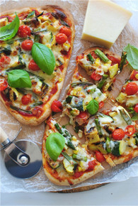 Grilled Veggie Naan Pizzas - (Free Recipe below)