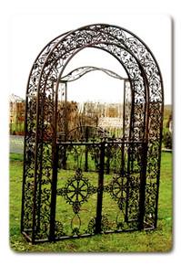 Oriental Garden Arbor w/ Gates