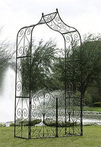 Iron Garden Arbor with Gate