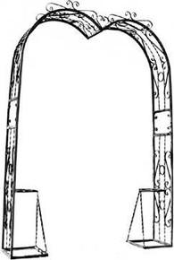 Heavy Heart Shaped Arch