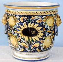 Sunflower Lemon Planter - custom orders accepted