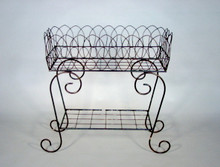 "Scroll 34"" Wrought Iron Plant Stand"