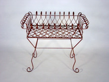 Curved Wrought Iron Plant Stand