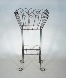 "Iron Scroll 38"" Plant Stand"