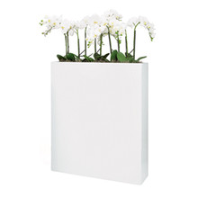 "Solo Rectangle Planter 36"" - Dark Brown, Black or White"