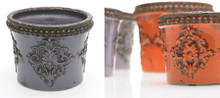 Monarch Pots - Set of 3 Lavender or Orange