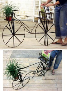 Life Size Scrap Recycled Bicycle Planter