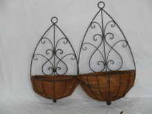 Set of 2 Swirl Wall Planters