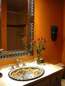 A Custom Hand Painted Sink and / or Mirror
