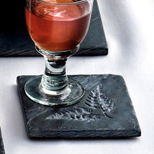 Fern Coasters Slate Set of 4