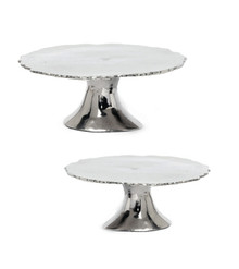 Natural Footed Cake Stand