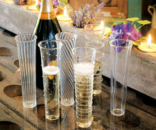 Venetian Style Champagne Flutes - 6 included