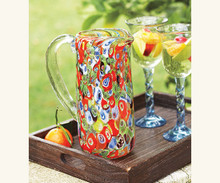 Millefiori Glass Pitcher