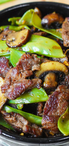 Asian Beef with Mushrooms & Snow Peas - (Free Recipe below)