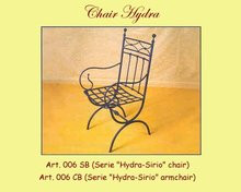 Hydra Wrought Iron Chair - with or without arms