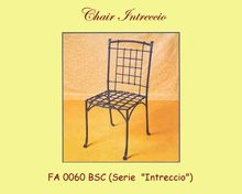 Intreccio Wrought Iron Chair W/ or without arms