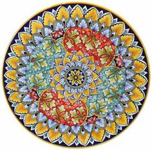 "Majolica Large 22"" Wall Plates - several designs"