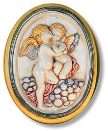 Della Robbia Angels Oval Wall Plaque