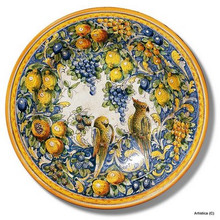 "Montelupo Birds Large 26"" Wall Plate"