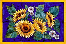 "Sunflowers 16"" x 24"" (6 tiles)"