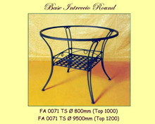 Intreccia Wrought Iron Base - multiple sizes, shapes available