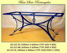 Siria Rectangle Wrought Iron Base - multiple sizes, shapes available