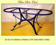 Siria Oval Wrought Iron Base - multiple sizes, shapes available