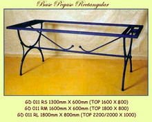 Pegaso Rectangle Wrought Iron Base - multiple sizes, shapes available