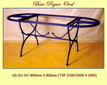 Pegaso Oval Wrought Iron Base - multiple sizes, shapes available
