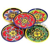 Italian Ceramic Coasters Set of 4