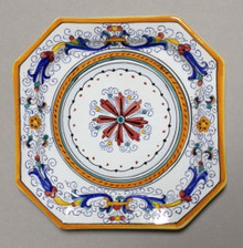 "Octagon Italian Ceramic Plate 12"" - Many designs to choose from"