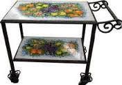 Alberello Italian Ceramic Serving Cart - custom designs
