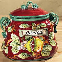 BORDEAUX Oval Biscotti Jar