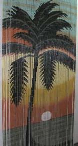 Palm Sunset Bamboo Beaded Curtain
