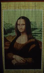 Mona Lisa Bamboo Beaded Curtain