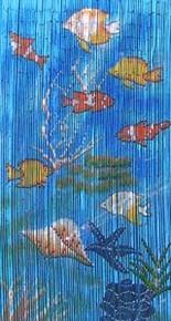 Fish Bamboo Beaded Curtain
