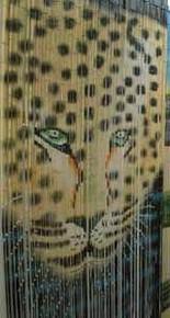 Leopard / Cheetah Bamboo Beaded Curtain