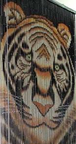 Tiger Bamboo Beaded Curtain