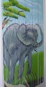 Elephant Bamboo Beaded Curtain