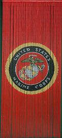 Marine Corps Bamboo Beaded Curtain