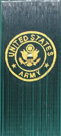 Army Bamboo Beaded Curtain