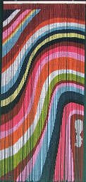 Colorful Waves Bamboo Beaded Curtain