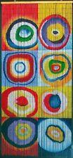 Art Bubbles or Circles Bamboo Beaded Curtain