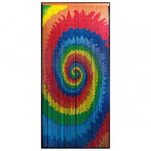 Tie Dye Swirl Bamboo Beaded Curtain