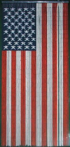 American Flag Bamboo Beaded Curtain