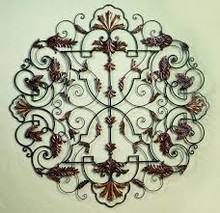 "Leaf Accent Medallion Wall Grille - 50""d"
