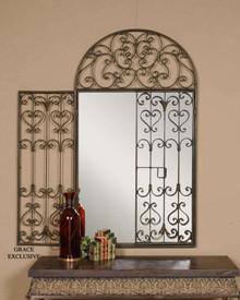 Garden Gate Arch Wall Mirror