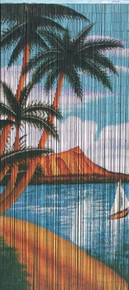 Hawaiian Island Bamboo Beaded Curtain