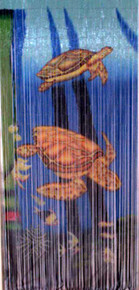 Sea Turtles Bamboo Beaded Curtain