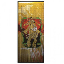 Colorful Lion Bamboo Beaded Curtain